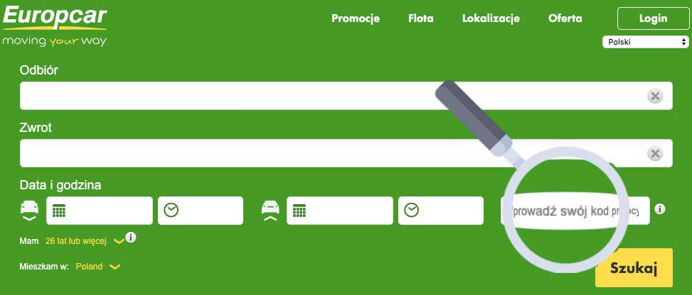 europcar kod promocyjny